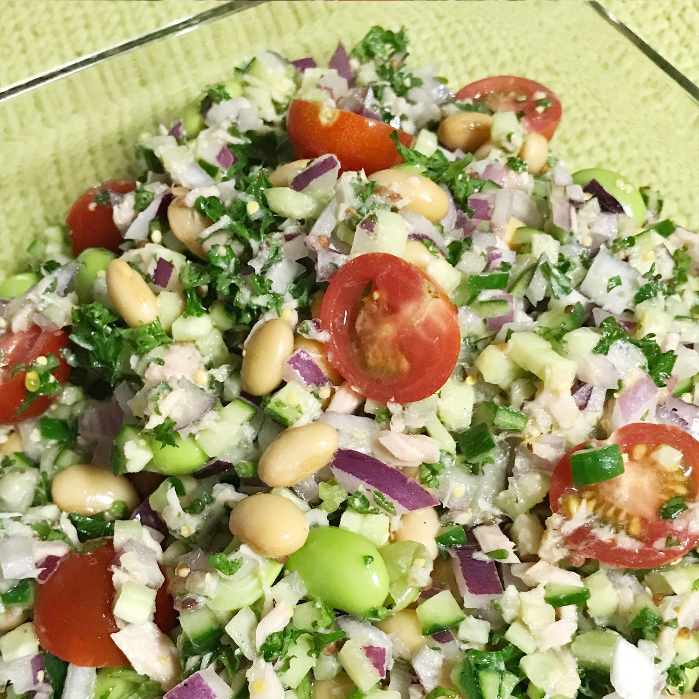 イソフラボンたっぷり♪大豆と野菜のマリネ