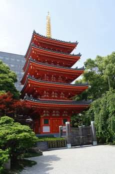 朱色が美しい!東長寺五重塔