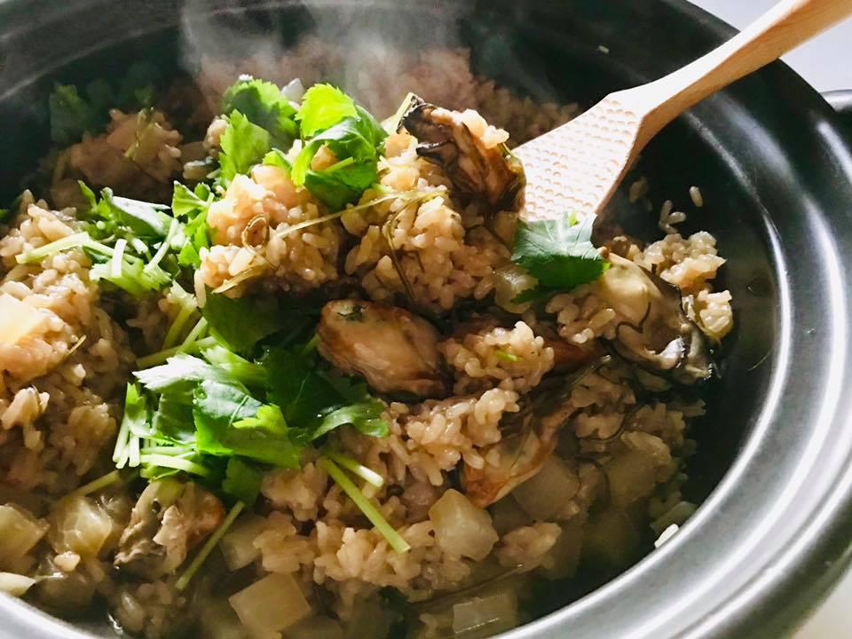 炊飯器でOK!牡蠣と焼き大根の炊きこみご飯