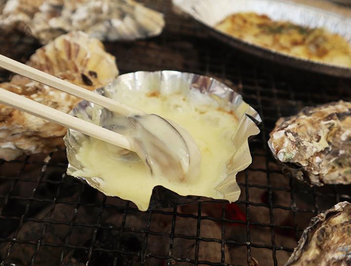 牡蠣とチーズ