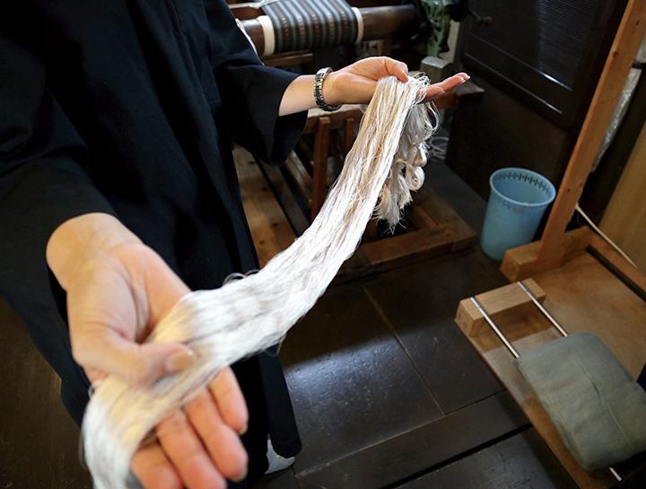 織る前の糸